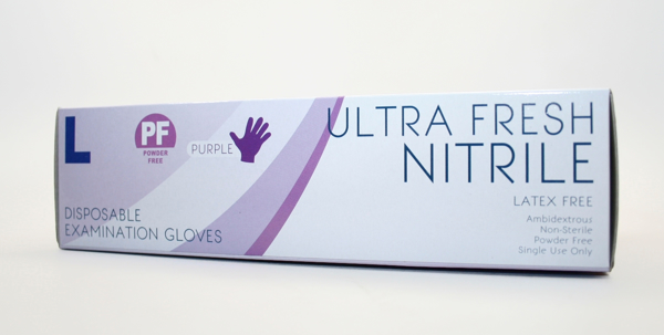 Picture of Gloves Nitrile Purple Ultra Fresh Large 100s